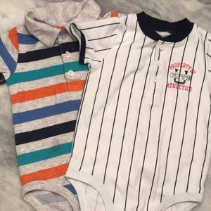 Two Carter's 18mos onesies